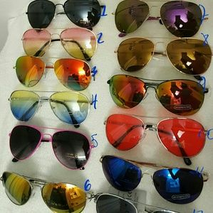 Accessories - Aviators frame sunglasses mirrorred clear
