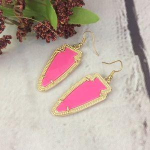 Pink & Gold Drop Earrings