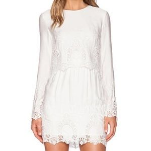 White Long Sleeve Dress by The Jetset Diaries XS