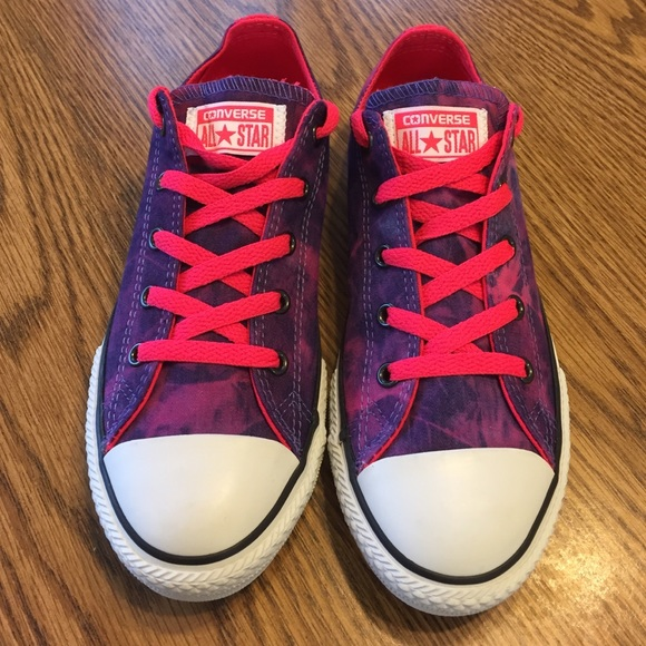 c5caf1f6b30d Converse Shoes - NWT Converse tie dye purple pink shoes