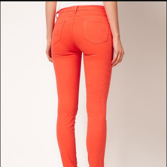 87% off J Brand Denim - J Brand orange skinny jeans from Meggie's ...
