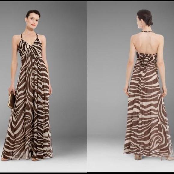 BCBGMaxAzria Dresses   Skirts - BCBG Max Azria Animal Zebra Print Maxi Dress  ... b81458cde