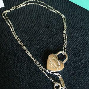 Tiffany & Co necklace w/lock heart charm