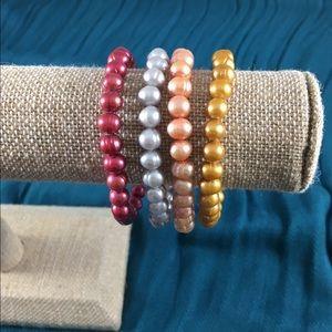 Honora Jewelry - Set of 4 Honora pearl bracelets