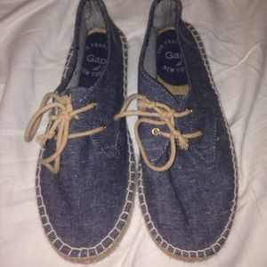 New GAP denim espadrilles
