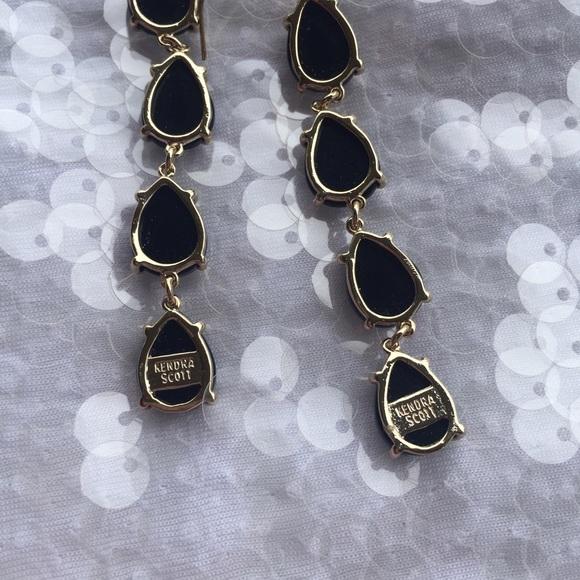 Black Stone Earrings: Kendra Scott Black Stone Earrings From