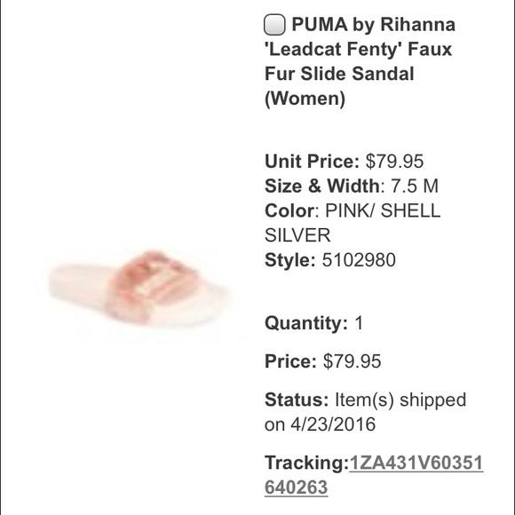 Fenty X Diapositivas De Piel De Puma De Color Rosa g7Mm0qx