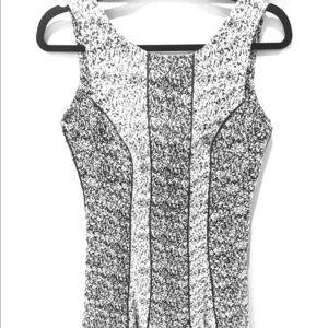 H&M Black & White Dress