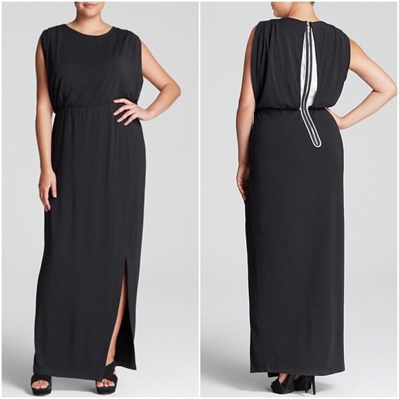 d09af7ee826 NWT Mynt 1792 Sheer Back Maxi Dress Plus Size 16W
