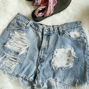 Levi's Pants - Levi's Ripped Shorts