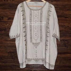 Mes Demoiselles Tops - MES DEMOISELLES Tunic Zephir Embroidered Textured
