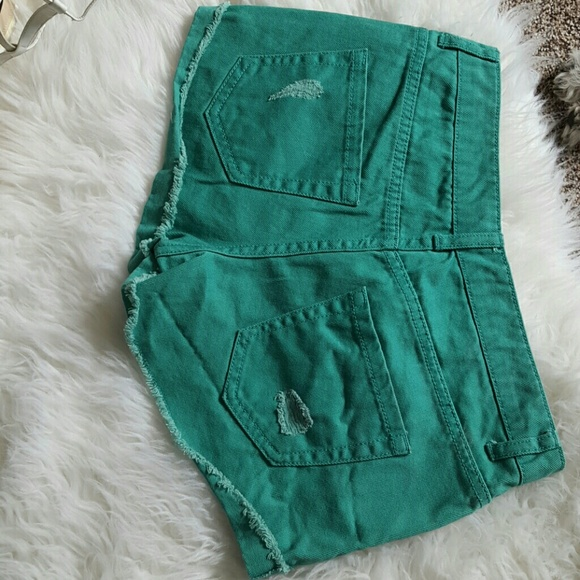 Forever 21 Shorts - Green Forever 21 Shorts