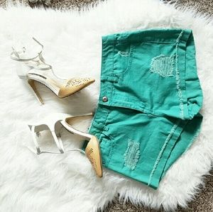 Green Forever 21 Shorts