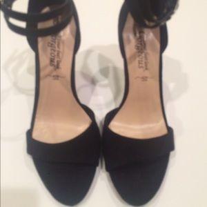 New Asos Faux Suede Black Sandals  Size 7 38