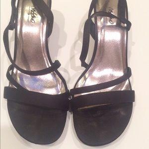 Nina Shoes - EUC Nina black satin party sandals 6.5