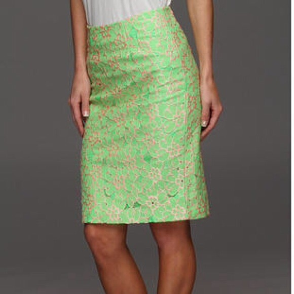 bc7063746 Lilly Pulitzer Skirts   Nwt Gorgeous Lace Pencil Skirt   Poshmark