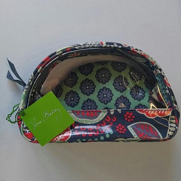 c3027ab9ae9 Vera Bradley Bags   Nomadic Floral Clear Cosmetic Duo   Poshmark