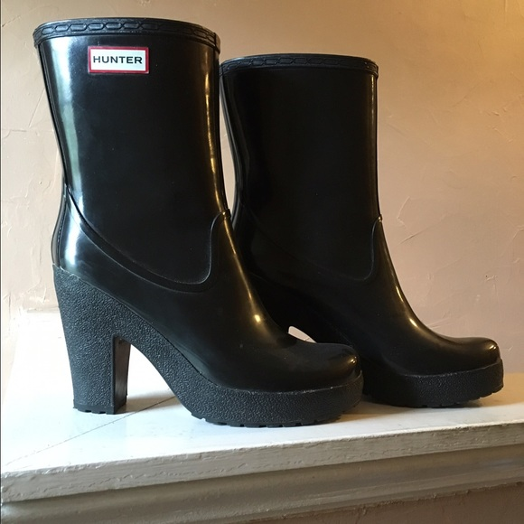 low priced 11112 09f70 Hunter High Heel Ankle Boots