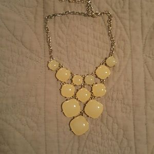 White bubble necklace with gold chain