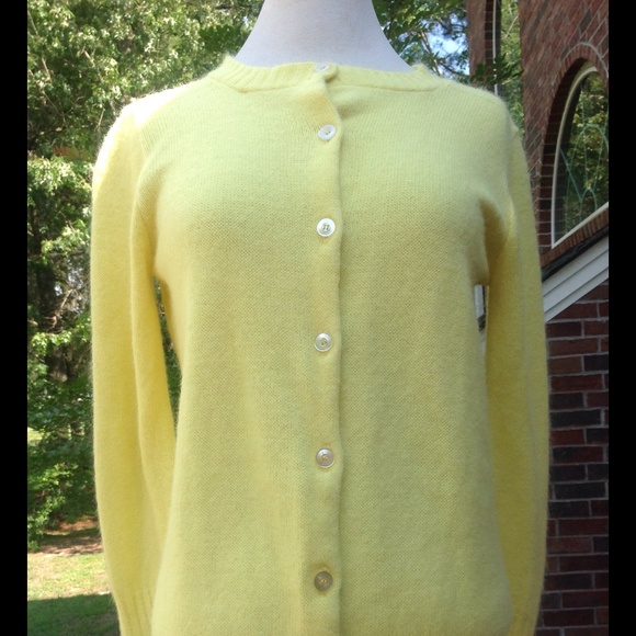 Vintage - Vintage Lemon Yellow Cardigan Sweater from Vanessa's ...