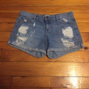 Mudd Shorts - MUDD size 11 distressed light wash shorts