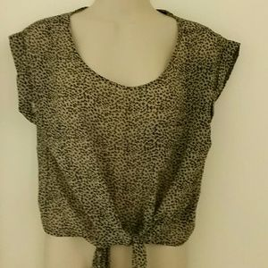 Forever 21 blouse with front tie