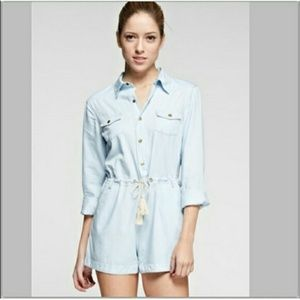 Tea n Cup Pants - SALE!!!  NWT Chambray Button Down Romper