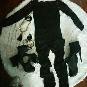 Black Lace Jumpsuit New Never Worn