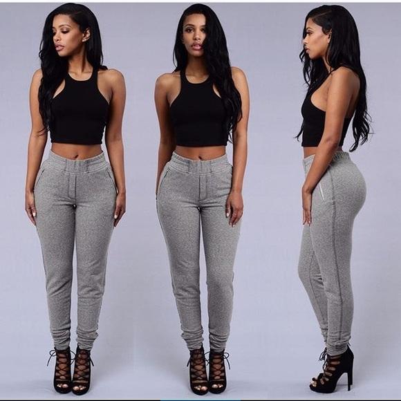Fashion Nova Pants Grey Sweat Poshmark