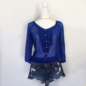 Hollister Tops - HCO Blue XS Blouse