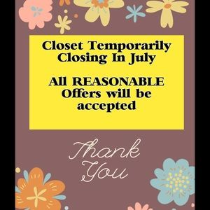 Other - Please visit my closet today for awesome listings!