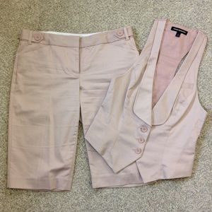 Capri Pants And Vest Set