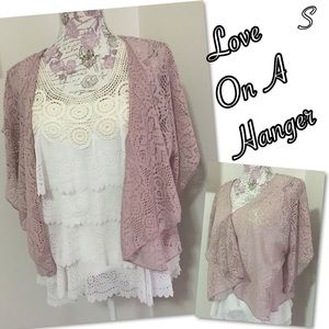 love on a hanger Jackets & Blazers - Love on a Hanger hand knit open cardigan S