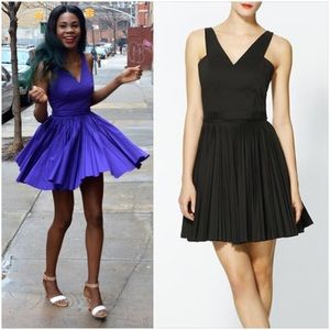 SALE🎊 Robert Rodriguez black pleated cutout dress