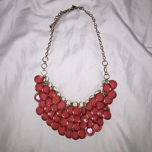 Chunky coral bubble statement necklace