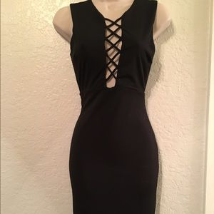 Black Criss cross dress