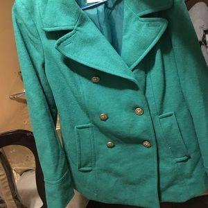 Mint green coat