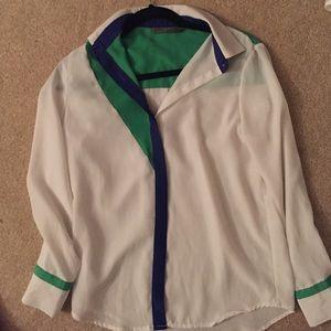 Asos color block blouse