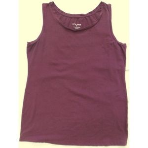 Thyme Tops - Thyme Womens Maternity Plum Purple Tank Top L
