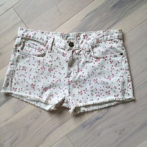 Current/Elliott Pants - Current/Elliott sweet cream ditsy boyfriend shorts