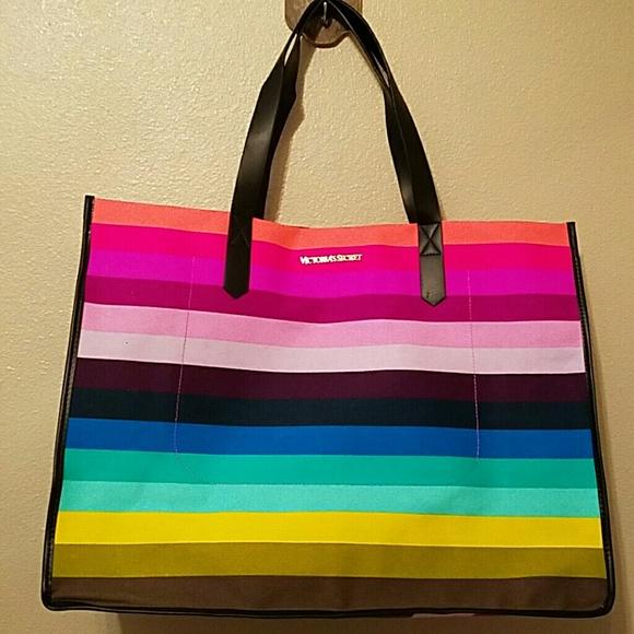 998a34ce1f Victoria Secret Rainbow Tote. M 574672e62fd0b7514b00ab7d
