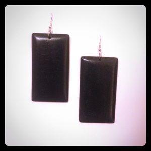 🌹✅Black Wooded Square Earrings
