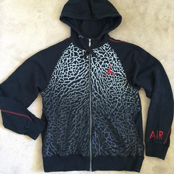 4a184178780b68 Jordan Hoodie Sweater Elephant Print Medium (Men)