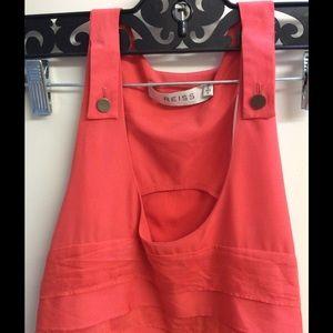 Reiss Tops - REISS NEW Layer Designer Salmon Luster Tunic Tank