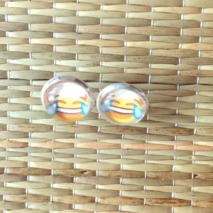 Jewelry - 🆕😂HILARIOUS  LOL EMOJI STUD EARRINGS
