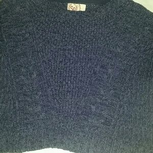 Sweaters - Blue Cropped Sweater