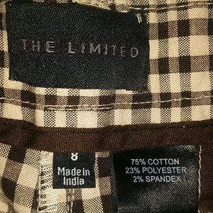 The Limited Shorts - The Limited Plaid Shorts