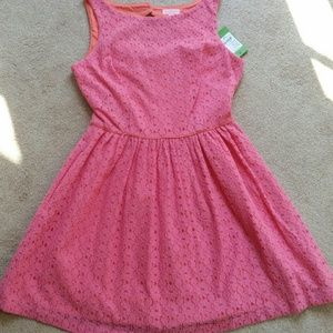 Lilly Pulitzer coral.laace dress