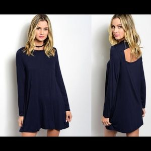 Navy Cutout Summer Tunic
