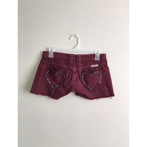 Frankie B. Pants - 🖤Megan Fox Frankie b cutoff heart pocket shorts